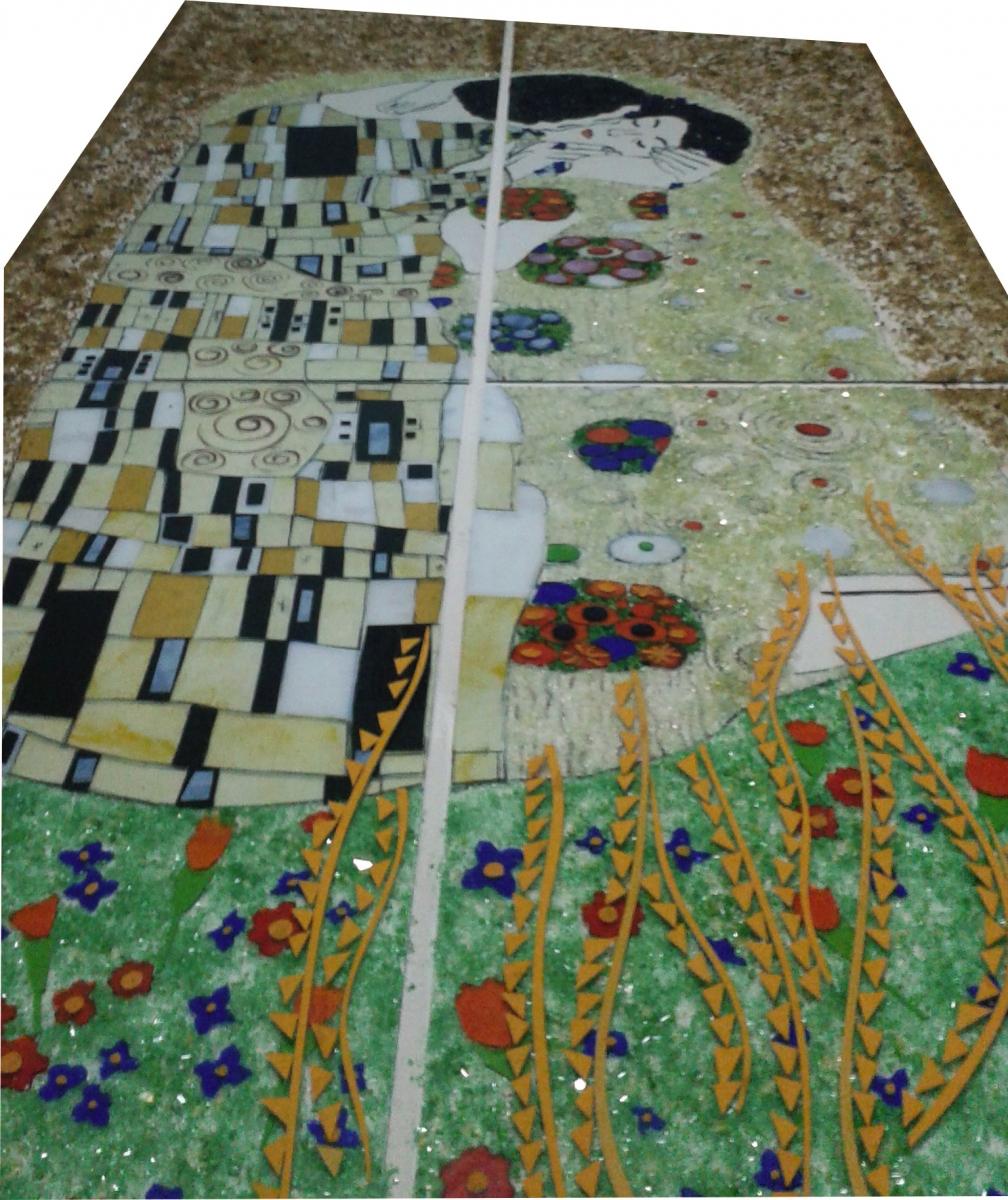 Füzyon Cam Gustaf Klimt Dolap Kapağı